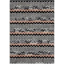 Aztec Pure Wool ZigZag Pattern Rug