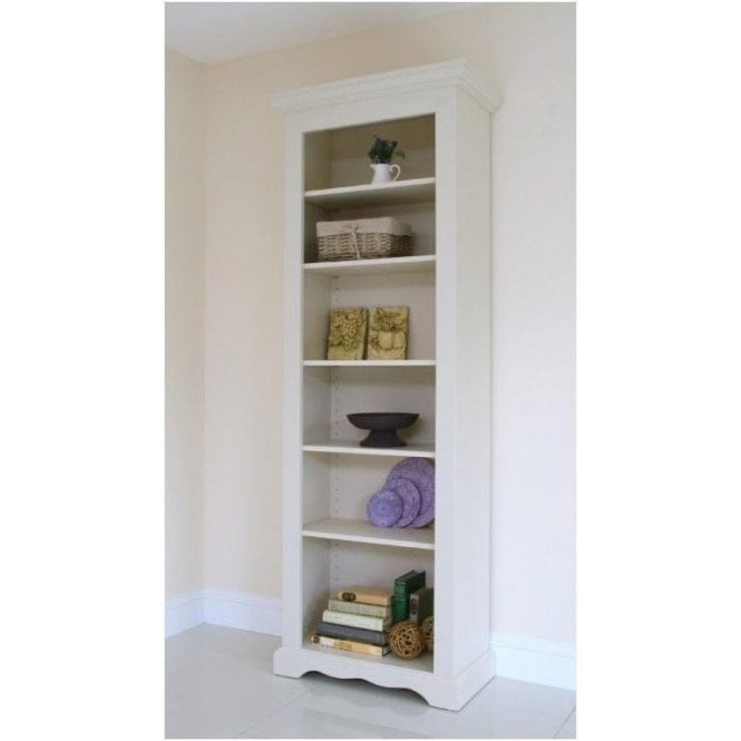 Barley Painted Open Bookcase - Narrow