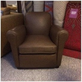 Barrington Chocolate Leather Club Chair
