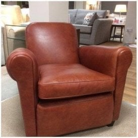 Barrington Tan Leather Club Chair
