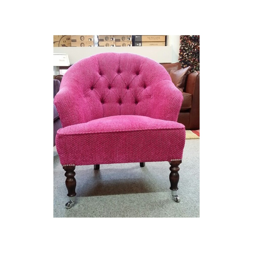 Occasional Bedroom Chairs Bath Small Buttoned Occasional Bedroom Chair In Pink Fabric