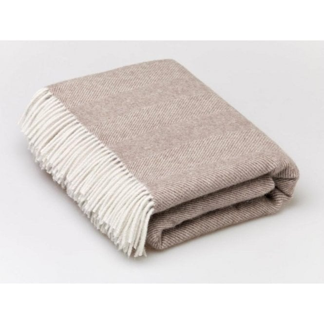 Bronte By Moon Alpaca Blend Brown Throw
