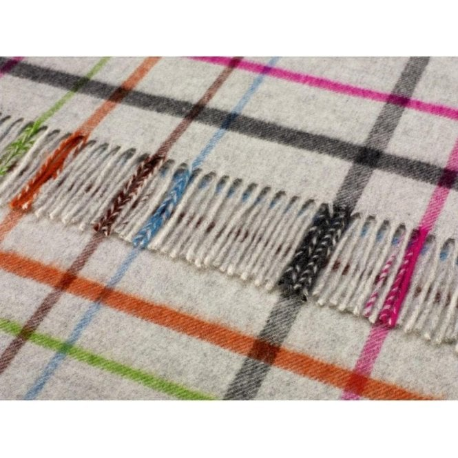 Bronte By Moon Grey/Multi Windowpane Throw