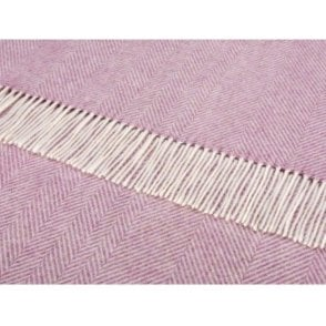 Bronte By Moon Lilac Herringbone Throw