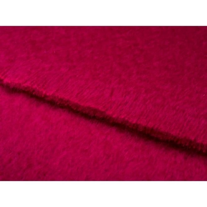 Bronte By Moon Mohair Fuschia Throw