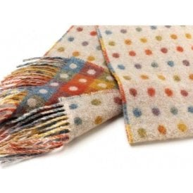 Bronte By Moon Multi Spot Beige Scarf