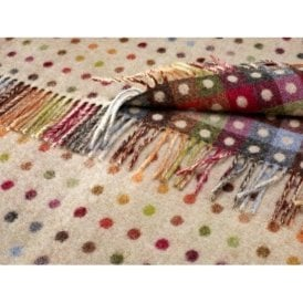 Bronte By Moon Multi Spot Beige Throw