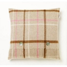Bronte By Moon Windowpane Beige Cushion