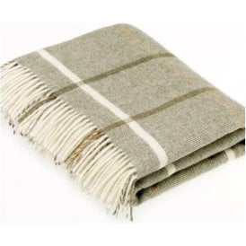 Bronte By Moon Windowpane Sage Throw