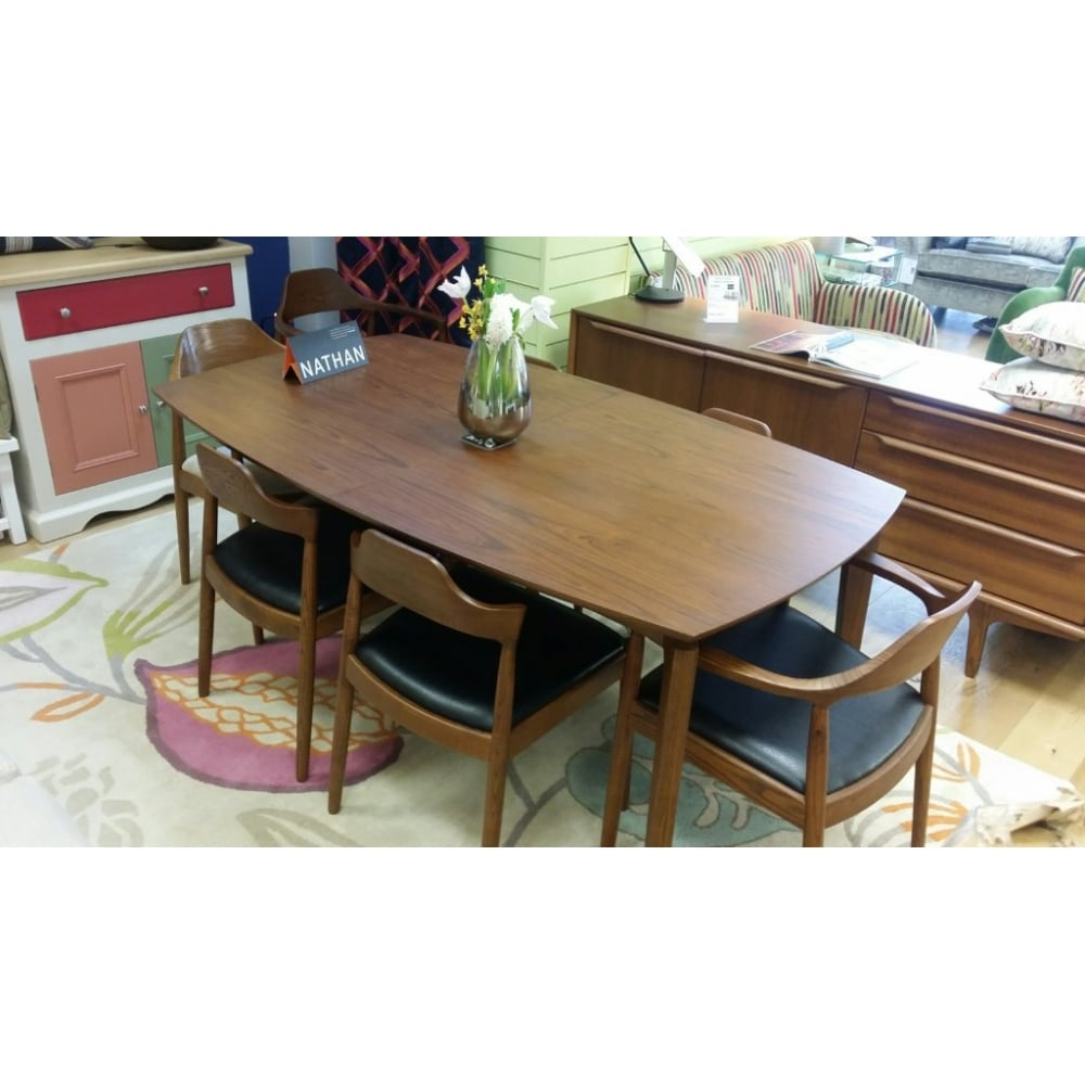 Citadel Dining Table and Six Chairs ...  sc 1 st  Home Of The Sofa & Nathan Citadel Rectangular Extendable Teak Dining Table and Chairs