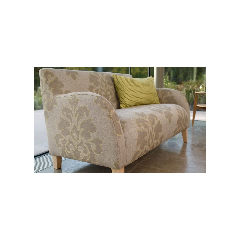 Corin small retro style chairs in villa nova camberley fabric for Small fabric chair