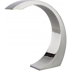 Curved Touch Sensitive LED Chrome Lamp