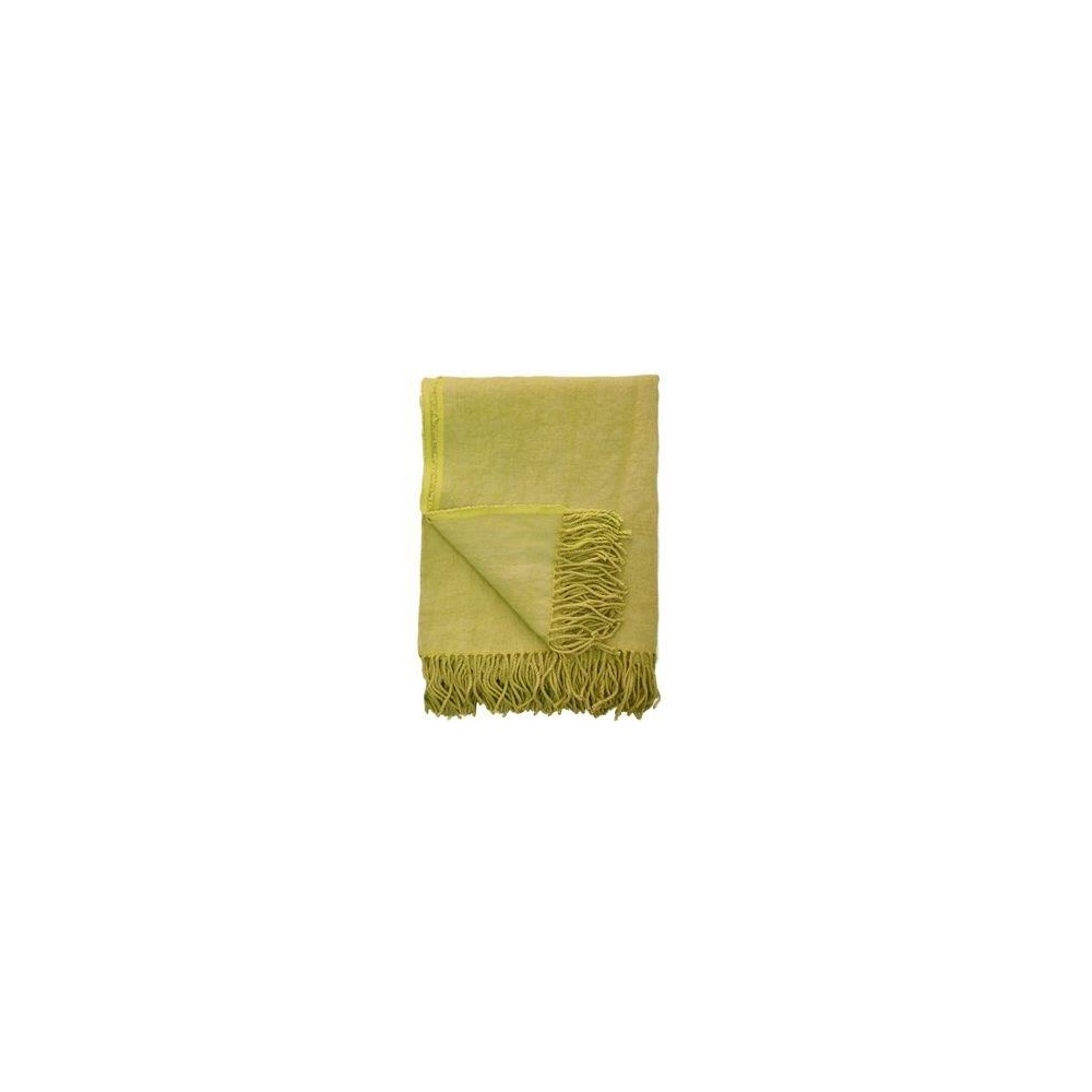 Designers Guild Sienna Citrus Yellow Blanket Throw By Home