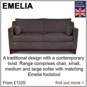 Emelia Sofa and Chair Range
