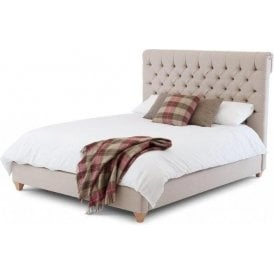 Grace Double Upholstered Fabric Bed