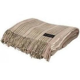 Ian Mankin Jura Stripe Sage Throw