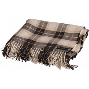 Ian Mankin Kintyre Check Charcoal Throw