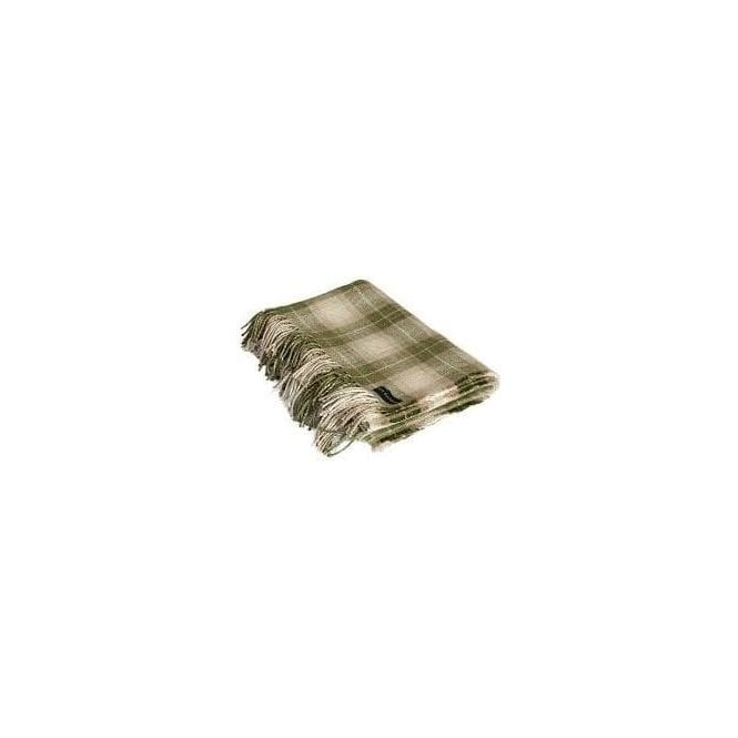 Ian Mankin Kintyre Check Sage Throw