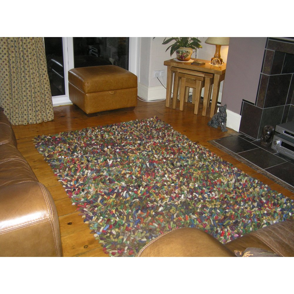 Plantation Jelly Bean Multicoloured Wool Rug By Home Of The Sofa