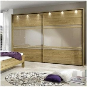 Meribel Semi-Solid Oak Sliding Wardrobes