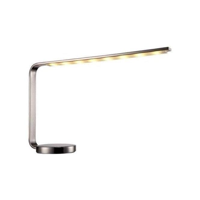 Naeva Satin Nickel LED Desk Lamp