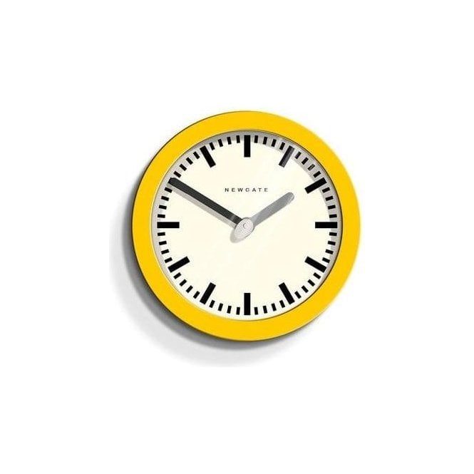 Newgate Andromeda Citrus Yellow Wall Clock