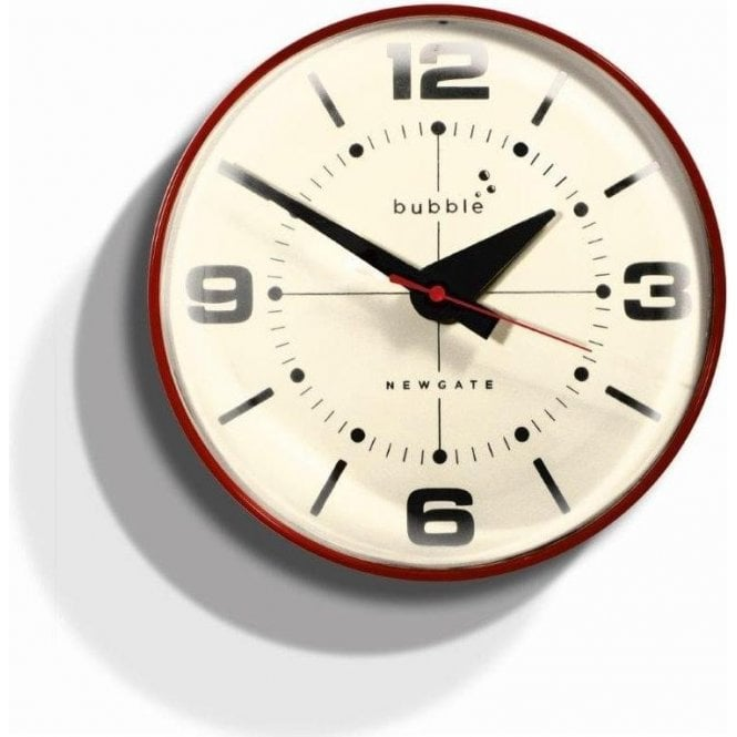 Newgate Bubble Red Wall Clock