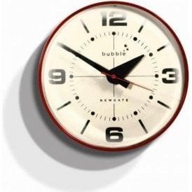 Newgate Bubble Red Wall Clock