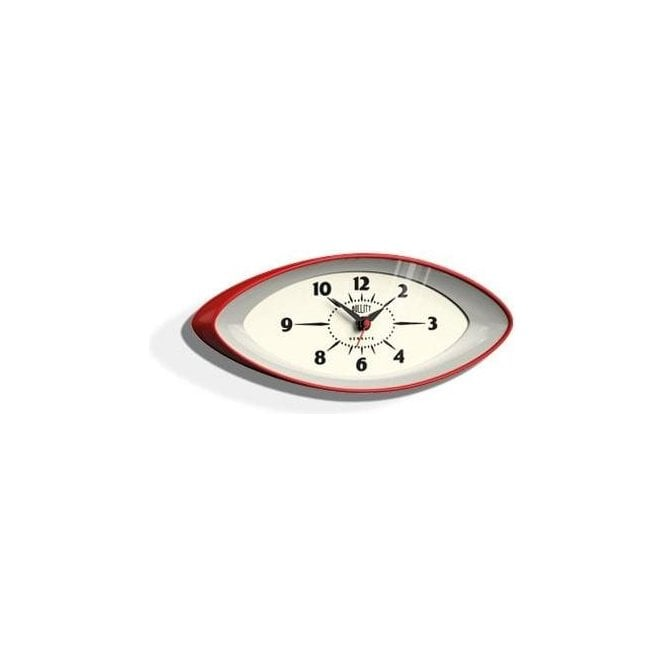 Newgate Bullitt Red Wall Clock