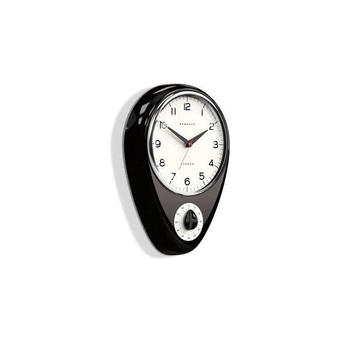 Newgate Discovery Cave Black Kitchen Clock