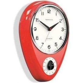Newgate Discovery Fire Engine Red Clock