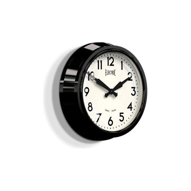 Newgate 'Electric' 50's Wall Clock Black