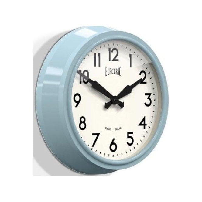 Newgate 'Electric' 50's Wall Clock Blue