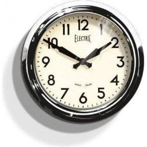 Newgate 'Electric' 50's Wall Clock Chrome