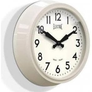 Newgate 'Electric' 50's Wall Clock Cream