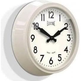 Newgate 'Electric' 50's Wall Clock Cream
