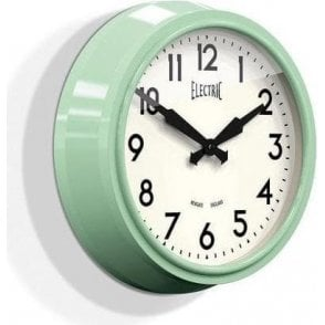 Newgate 'Electric' 50's Wall Clock Green