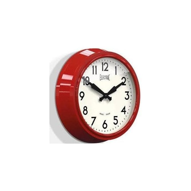 Newgate 'Electric' 50's Wall Clock Red
