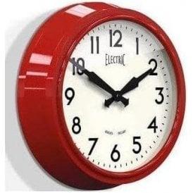 Newgate 'Electric' 50's Wall Clock Red