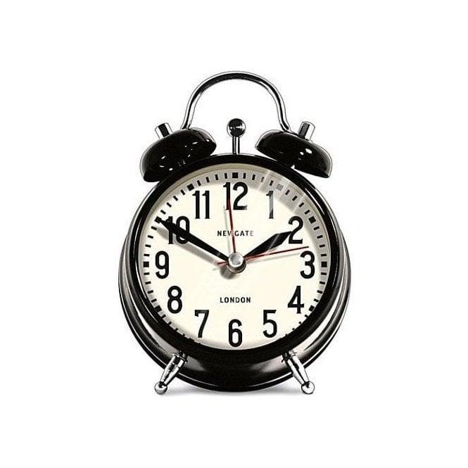 Newgate London Small Black Alarm Clock