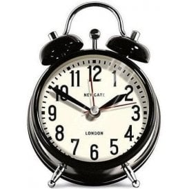 newgate london small black alarm clock