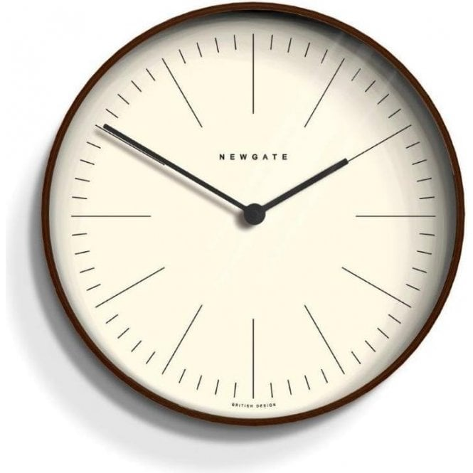 Newgate Mr Clarke Dark Plywood 28cm Wall Clock