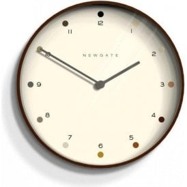 Newgate Mr Clarke Dark Plywood 40cm Wall Clock