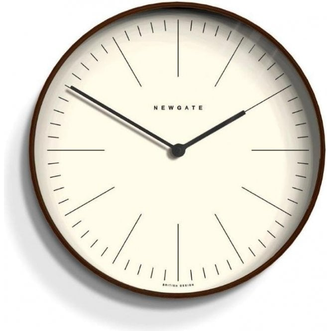 Newgate Mr Clarke Dark Plywood 53cm Wall Clock