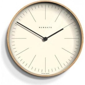 Newgate Mr Clarke Light Plywood 40cm Wall Clock