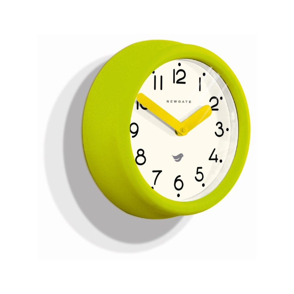 Newgate pantry lime green wall clock by home of the sofa for Green wall clocks uk