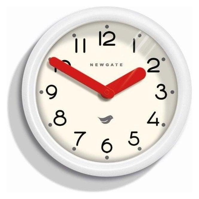 Newgate Pantry Pebble White Wall Clock