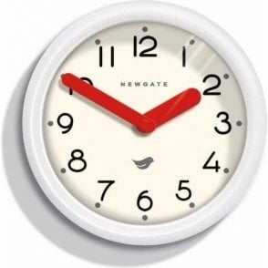 Newgate Pantry Pebble White Wall Clock