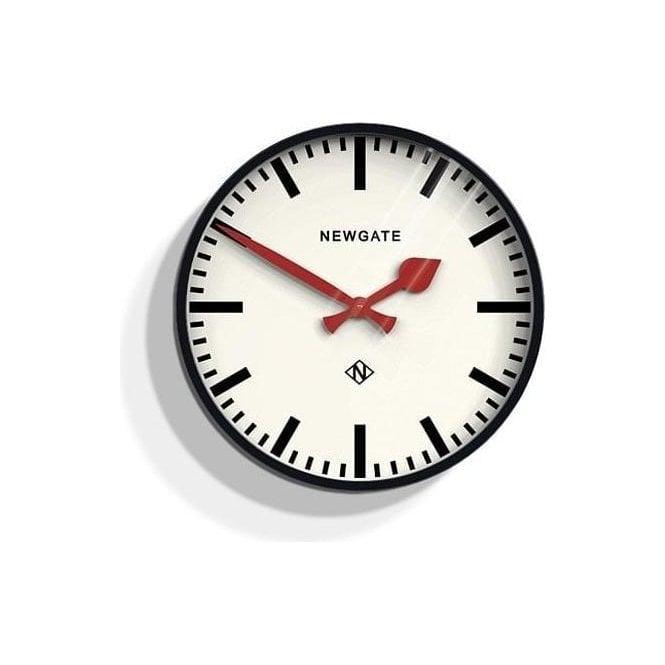Newgate Putney Black Wall Clock