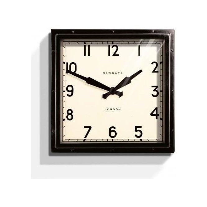 Newgate Quad Black Wall Clock